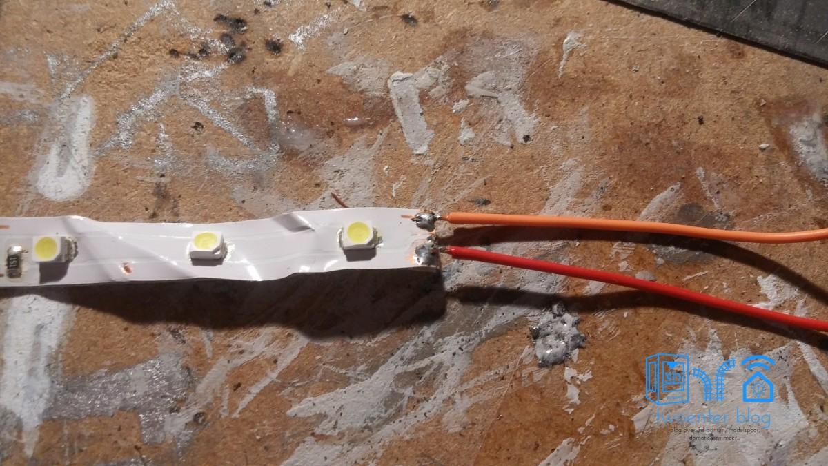 LED strip voor verlichting onder modelspoorbaan