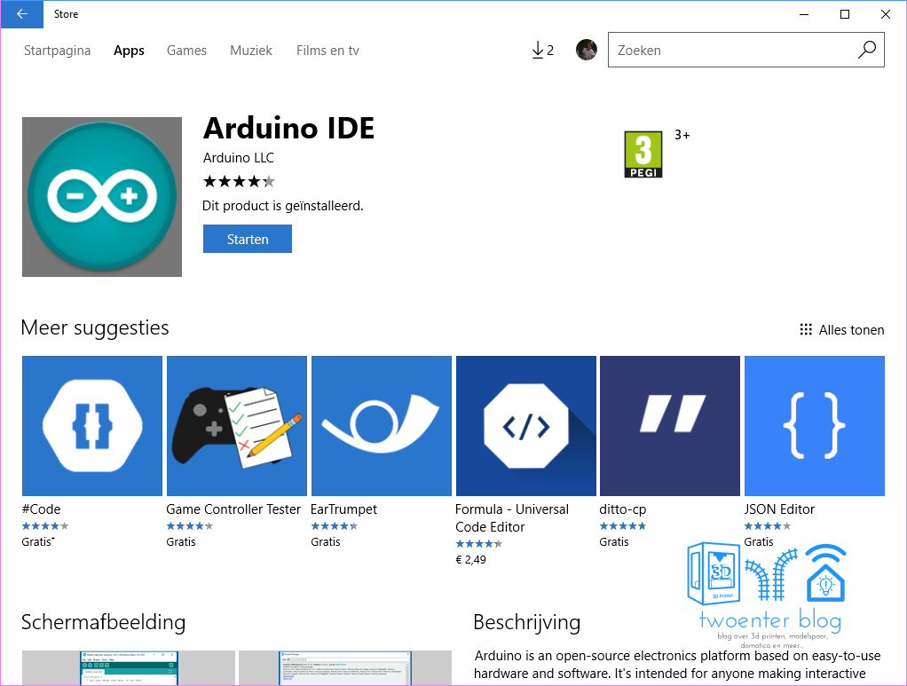 Arduino IDE in the Windows Store