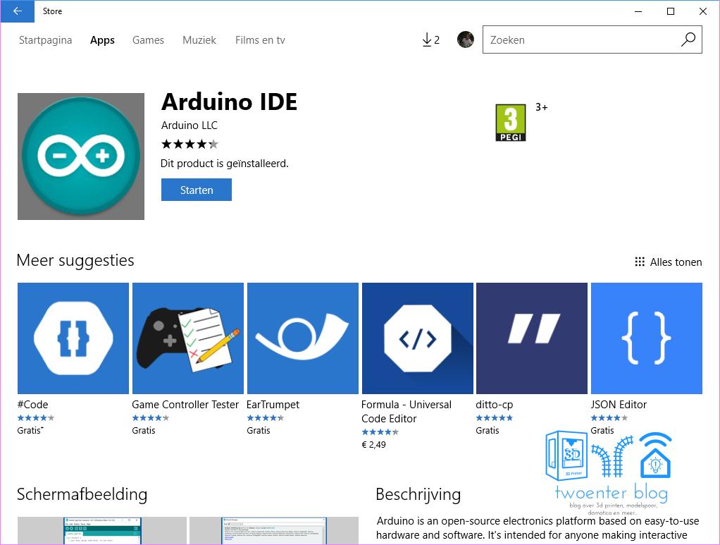 Arduino IDE in the Windows Store