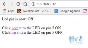 LED bedienen met WiFi