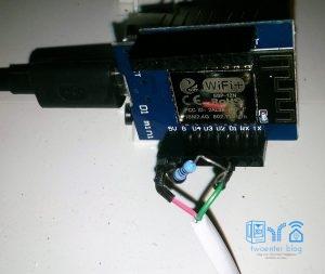 S0 kabel voor een potentiaalvrij contact
