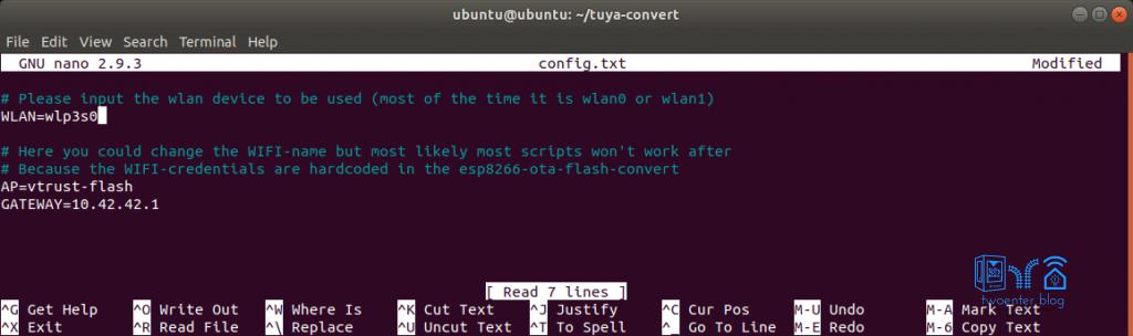 edit config.txt tuya convert